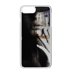 Burnt Apple Iphone 7 Plus White Seamless Case