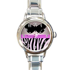 Butterfly Round Italian Charm Watch