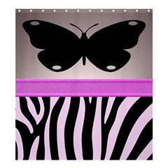Butterfly Shower Curtain 66  x 72  (Large)