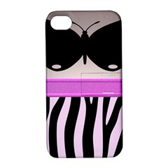 Butterfly Apple iPhone 4/4S Hardshell Case with Stand