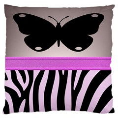 Butterfly Large Flano Cushion Case (one Side)