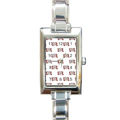 Lol Emoji Graphic Pattern Rectangle Italian Charm Watch