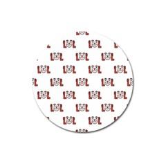 Lol Emoji Graphic Pattern Magnet 3  (Round)