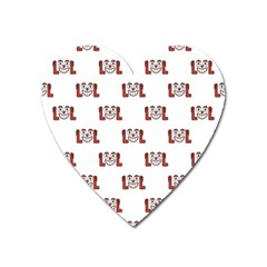Lol Emoji Graphic Pattern Heart Magnet