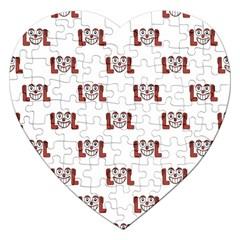 Lol Emoji Graphic Pattern Jigsaw Puzzle (Heart)