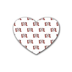 Lol Emoji Graphic Pattern Heart Coaster (4 pack)