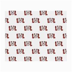 Lol Emoji Graphic Pattern Small Glasses Cloth (2-Side)