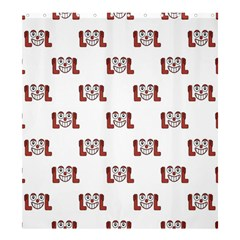 Lol Emoji Graphic Pattern Shower Curtain 66  x 72  (Large)