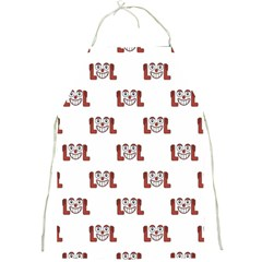 Lol Emoji Graphic Pattern Full Print Aprons