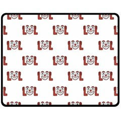 Lol Emoji Graphic Pattern Fleece Blanket (Medium)