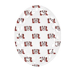 Lol Emoji Graphic Pattern Ornament (Oval Filigree)