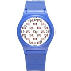 Lol Emoji Graphic Pattern Round Plastic Sport Watch (S)