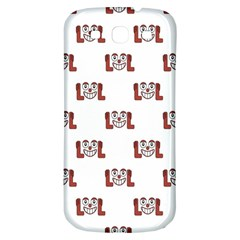 Lol Emoji Graphic Pattern Samsung Galaxy S3 S III Classic Hardshell Back Case