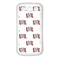 Lol Emoji Graphic Pattern Samsung Galaxy S3 Back Case (White)