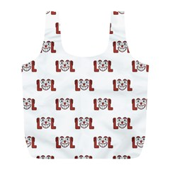 Lol Emoji Graphic Pattern Full Print Recycle Bags (L)