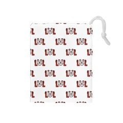 Lol Emoji Graphic Pattern Drawstring Pouches (Medium)