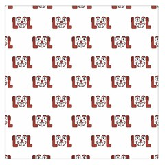 Lol Emoji Graphic Pattern Large Satin Scarf (square)