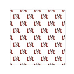 Funny Emoji Laughing Out Loud Pattern  Small Satin Scarf (Square)