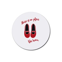 There is no place like home Rubber Round Coaster (4 pack)