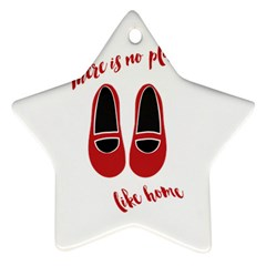 There is no place like home Star Ornament (Two Sides)