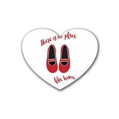 There is no place like home Rubber Coaster (Heart)