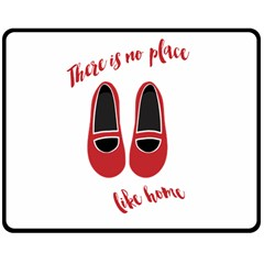 There is no place like home Double Sided Fleece Blanket (Medium)