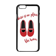 There is no place like home Apple iPhone 6/6S Black Enamel Case