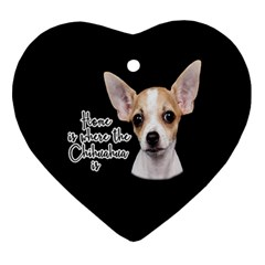 Chihuahua Ornament (Heart)