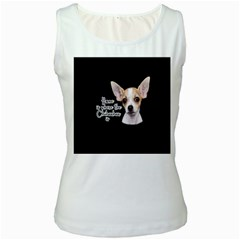 Chihuahua Women s White Tank Top