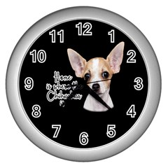 Chihuahua Wall Clocks (Silver)