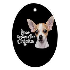 Chihuahua Oval Ornament (Two Sides)