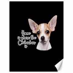 Chihuahua Canvas 12  x 16