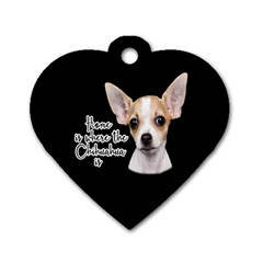 Chihuahua Dog Tag Heart (One Side)
