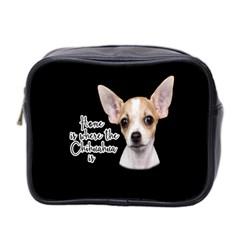 Chihuahua Mini Toiletries Bag 2-Side