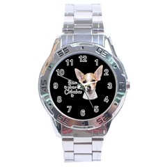 Chihuahua Stainless Steel Analogue Watch
