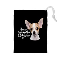Chihuahua Drawstring Pouches (Large)