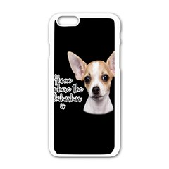 Chihuahua Apple iPhone 6/6S White Enamel Case