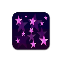 Background With A Stars Rubber Square Coaster (4 pack)