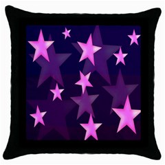 Background With A Stars Throw Pillow Case (black)