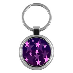 Background With A Stars Key Chains (Round)