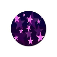 Background With A Stars Rubber Round Coaster (4 pack)
