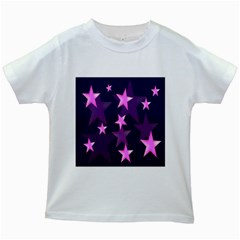 Background With A Stars Kids White T Shirts