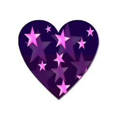 Background With A Stars Heart Magnet