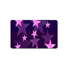 Background With A Stars Magnet (Name Card)