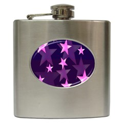 Background With A Stars Hip Flask (6 Oz)