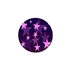 Background With A Stars Golf Ball Marker (4 pack)