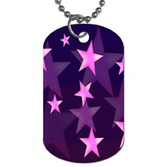 Background With A Stars Dog Tag (two Sides)