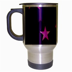 Background With A Stars Travel Mug (Silver Gray)