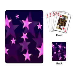 Background With A Stars Playing Card