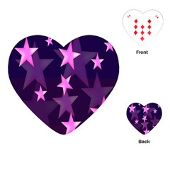 Background With A Stars Playing Cards (Heart)